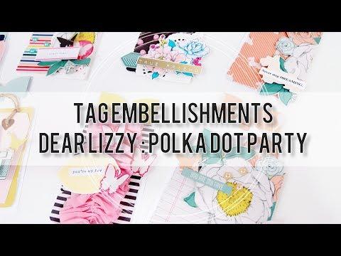 DIY Tag Embellishments   Dear Lizzy Polka Dot Party