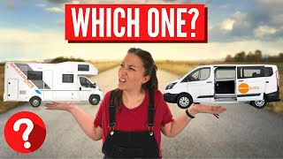 Campervan vs Motorhome Tour & Comparison | Safe COVID Europe Travel Series 1