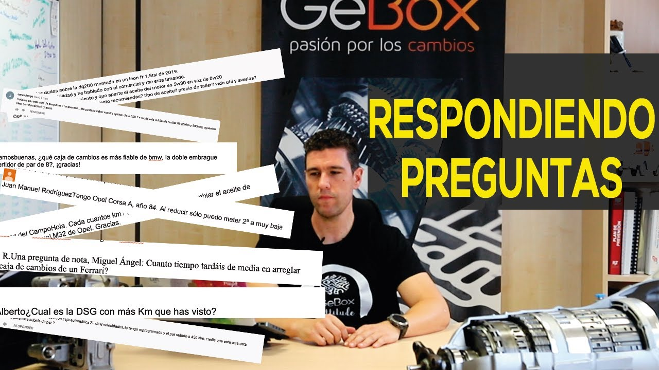 Respondiendo a vuestras consultas sobre cajas de cambio | equipo #gebox.cajasdecambio | T2P4_2020