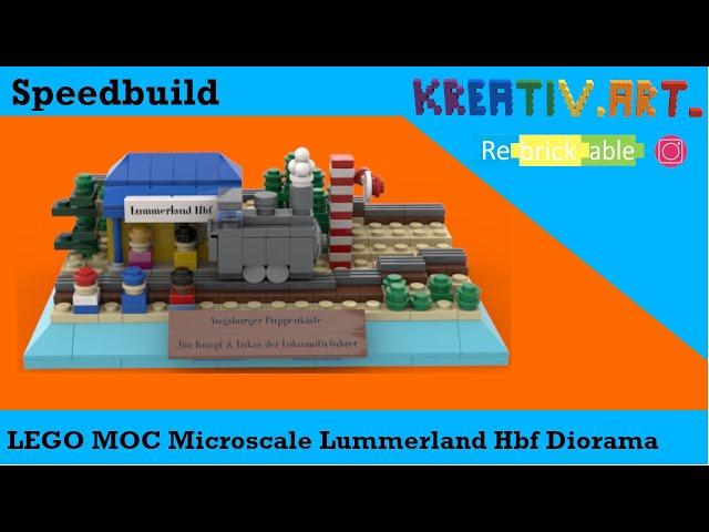 LEGO® MOC Microscale Lummerland Hbf Diorama | Speedbuild