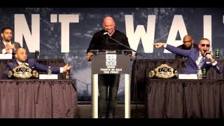 UFC 205: Alvarez vs. McGregor Full New York Press Conference