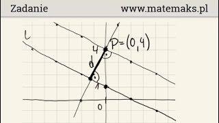 Odległość między prostymi równoległymi - przykład
