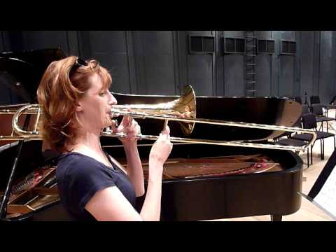 Mulcahy plays trombone solo from Mahler's Third Symphony