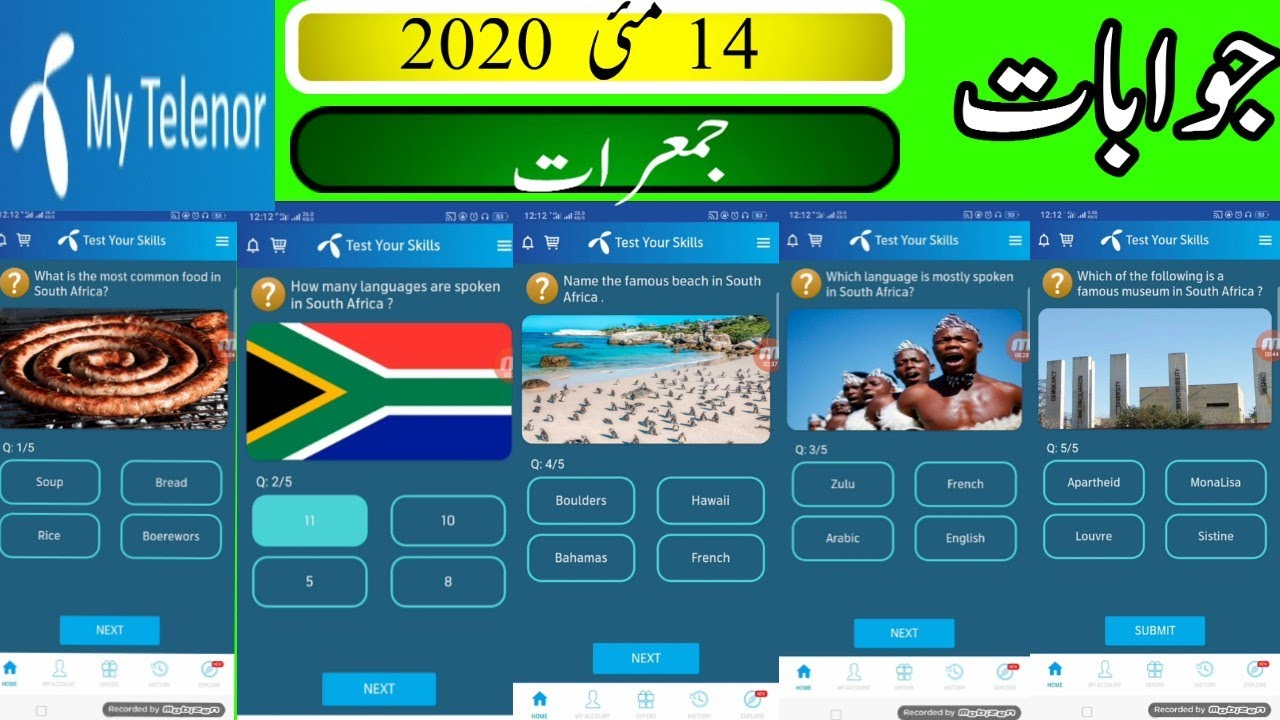 14 may my telenor quizz  my telenor today answrs my