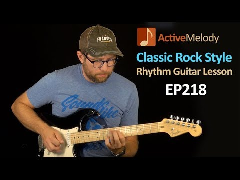 Classic Rock Rhythm Guitar Lesson (Includes Fill Licks) - EP218