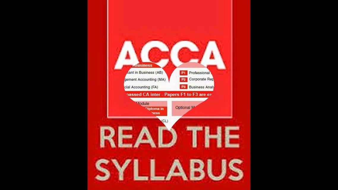 ACCA Course details | ACCA Global|Modules|Syllabus|Structure