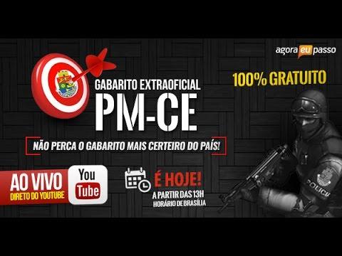 Ao Vivo - Gabarito Extraoficial PM-CE - Time #AEP