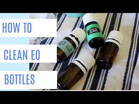 Frugal Living Tip: How to remove labels from essential oil bottles | Repurposing items in your home