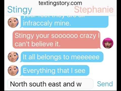 Stingy texts Stephanie the mine song!