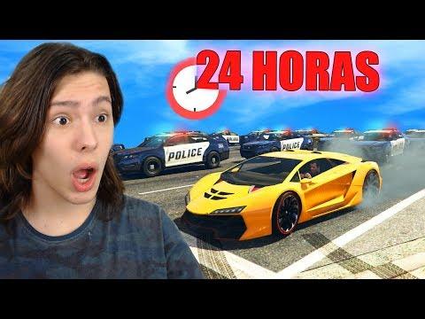 JOGANDO 24 HORAS SEM QUEBRAR NENHUMA LEI NO GTA 5!! (Incrível) thumbnail