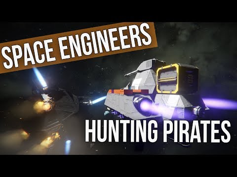 BATTLE!  Space Engineers - Hunting the Pirates! BATTLE! Ep 32