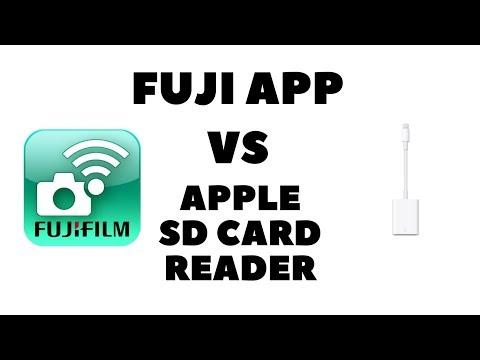 Fujifilm Mobile App vs Apple SD card reader