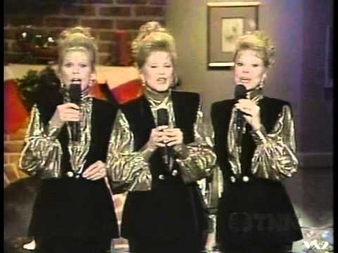 THE McGUIRE SISTERS - Medley of Christmas Songs - 1993