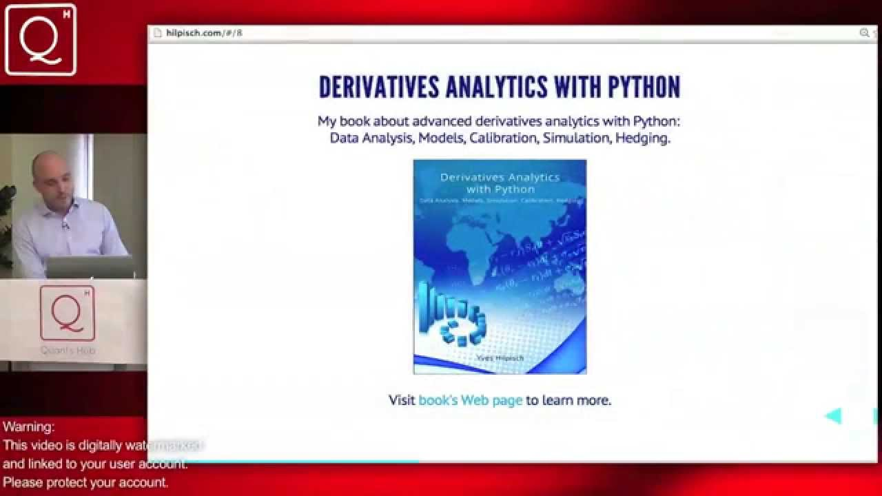 'Python for Finance' by Dr. Yves J. Hilpisch - Course