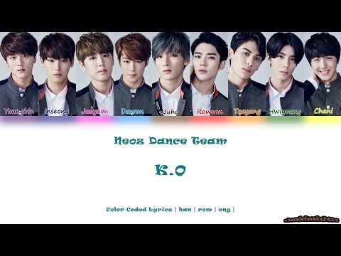 SF9 (에스에프나인) / NEOZ (네오즈) Dance Team - K.O (color coded lyrics han | rom | eng)