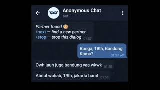 Prank text Anonymous chat TELEGRAM! bikin ngakak screenshot 5