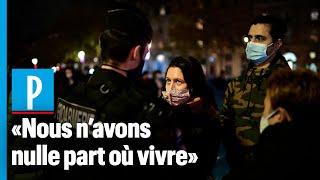 Paris : des centaines de migrants s'installent place de la République, la police intervient
