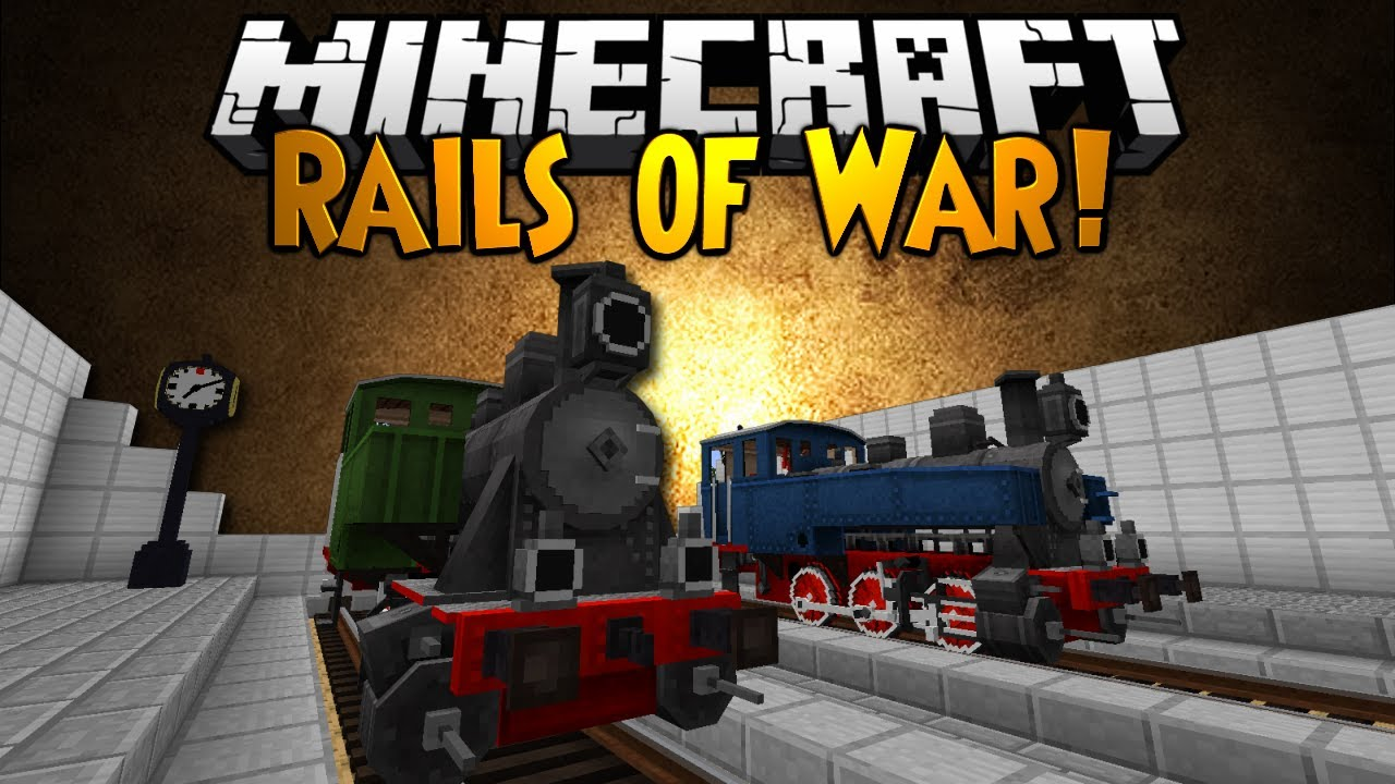 Minecraft Mod Showcase Rails Of War Youtube