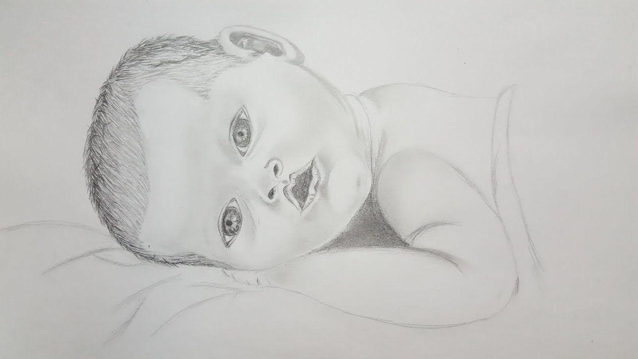Drawing Baby Sketch Youtube