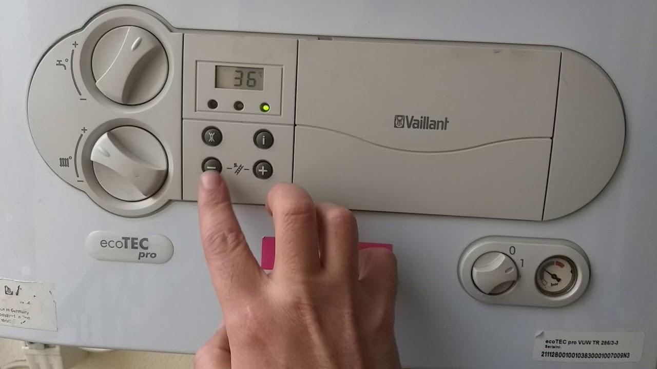Vaillant Gas Wandheizgerät (atmo TEC Classic) Komplett Bedienung (Heizung und Warmwasser) Anleitung