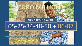 EUROMILLIONS TIRAGE DU VENDREDI 13 AVRIL
