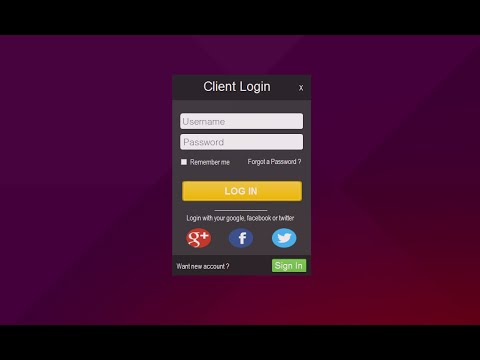 VIsual studio 2015 Flat Design Form Login - C# and VB.NET #3