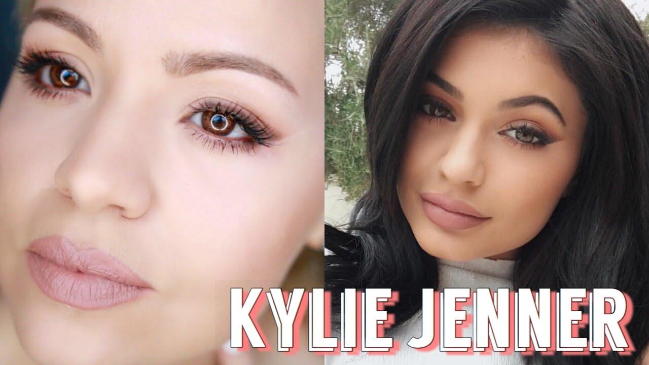 KYLIE JENNER Inspired Makeup | Smokey Cat Eye Tutorial ...