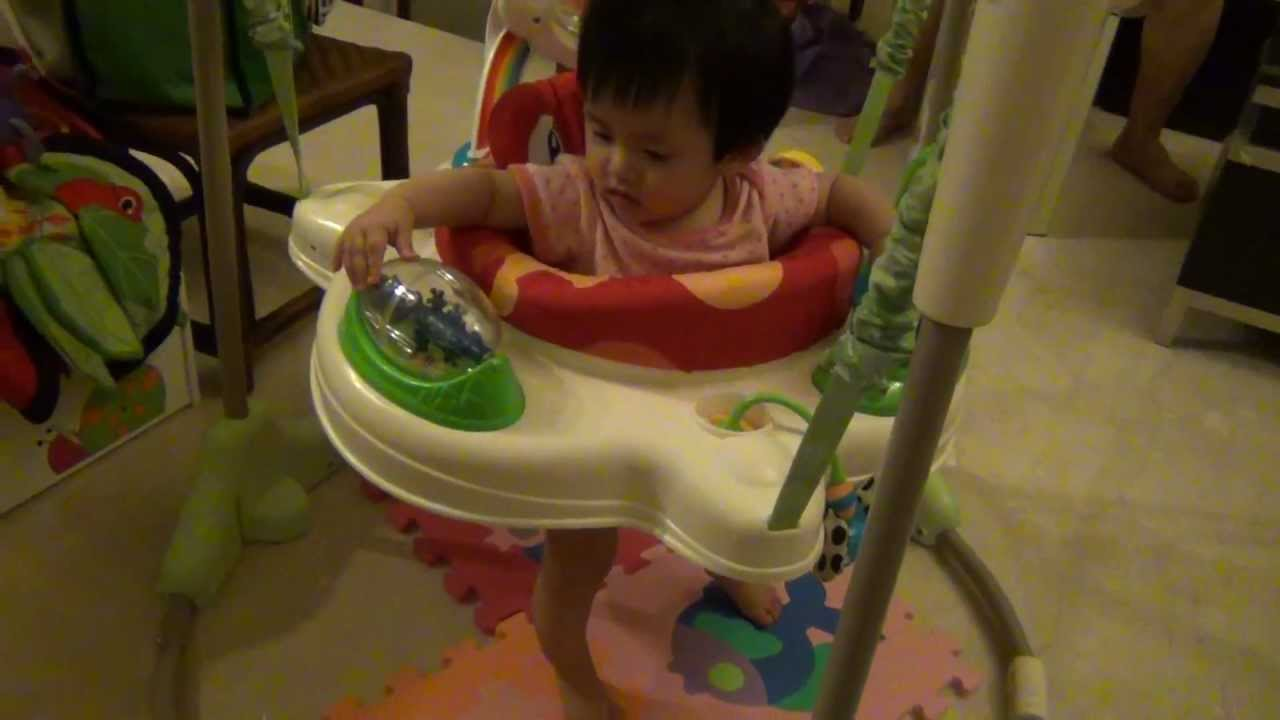 a24bb445c53c 朵朵玩Fisher Price Rainforest Jumperoo - YouTube