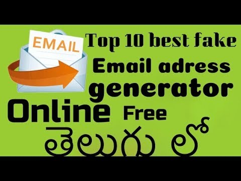 Top 10 FAKE EMAIL Generator Websites for free in తెలుగు    from how to  do??? in Telugu