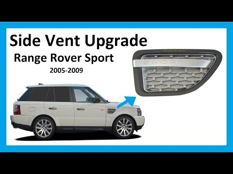 How To Fit 2010 Autobiography Side Vents To A 2005-09 Range Rover Sport