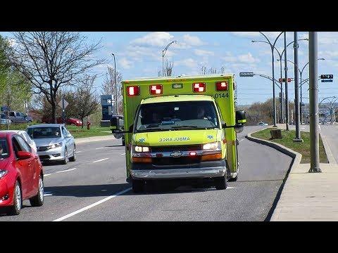 West Island | Urgences-Santé Montréal Ambulances Responding To Medical Aid Calls With Lights & Siren