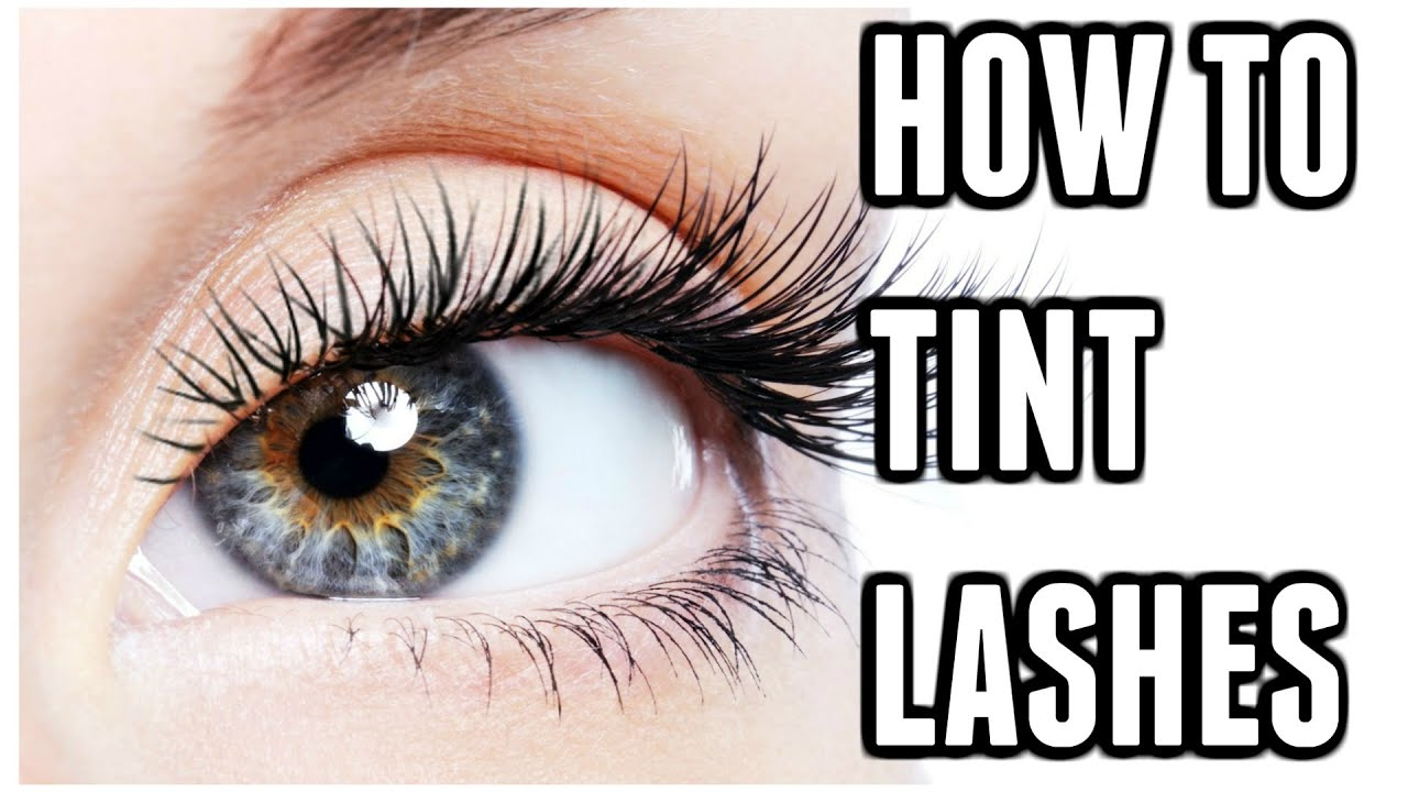 How To Tint Eyelashes At Home Carly Musleh Youtube