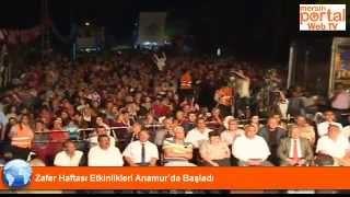 Zafer Haftası Etkinlikleri Anamur'da Başladı