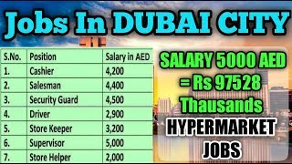 Job In Dubai || Salary 5000 AED || Salesman || Cashier || Supervisor || Gulf Job Rrquirement