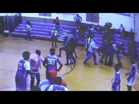 Seattle - Sports - Wild Brawl Breaks Out At Middle School Basketball Game In New Jersey
