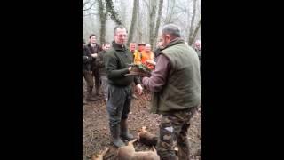 société de chasse militaire tableau avec les jeunes chasseurs