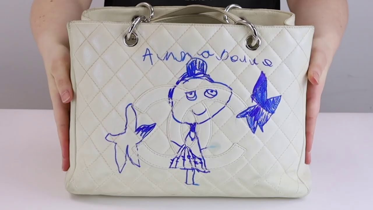 Daughter Doodles on £2,000 Chanel Tote!
