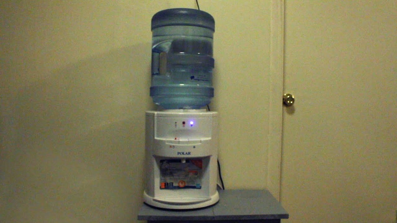 How to Replace a 5-Gallon Bottle into a Water Dispenser without a Non-Splash Cap