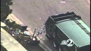 Device Explodes Inside Garbage Truck