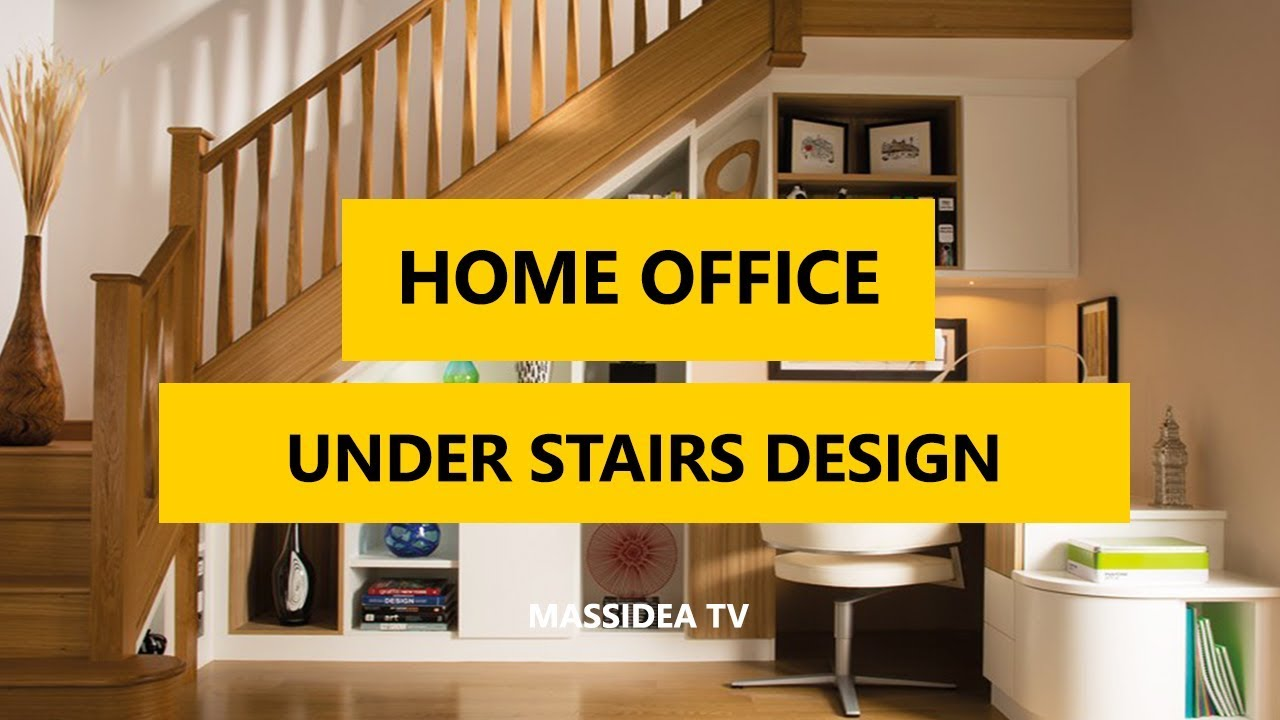 50+ Awesome Home Office & Study Room Under Stairs Space Design Ideas ...