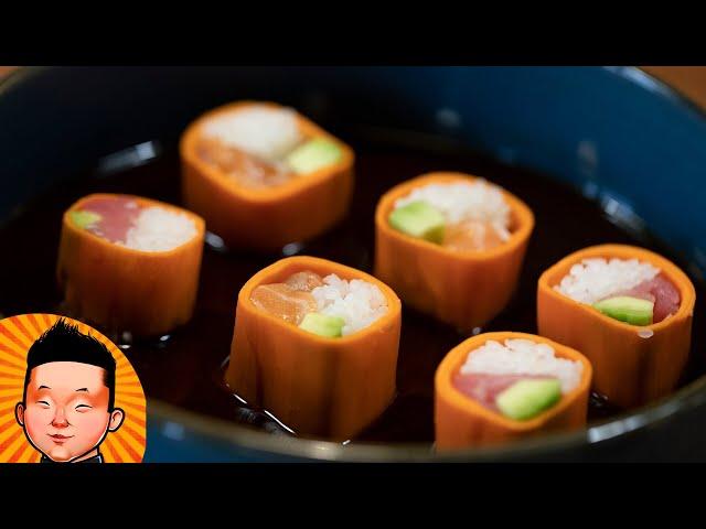 Ролл в Морковке | Рецепт не стандартного ролла