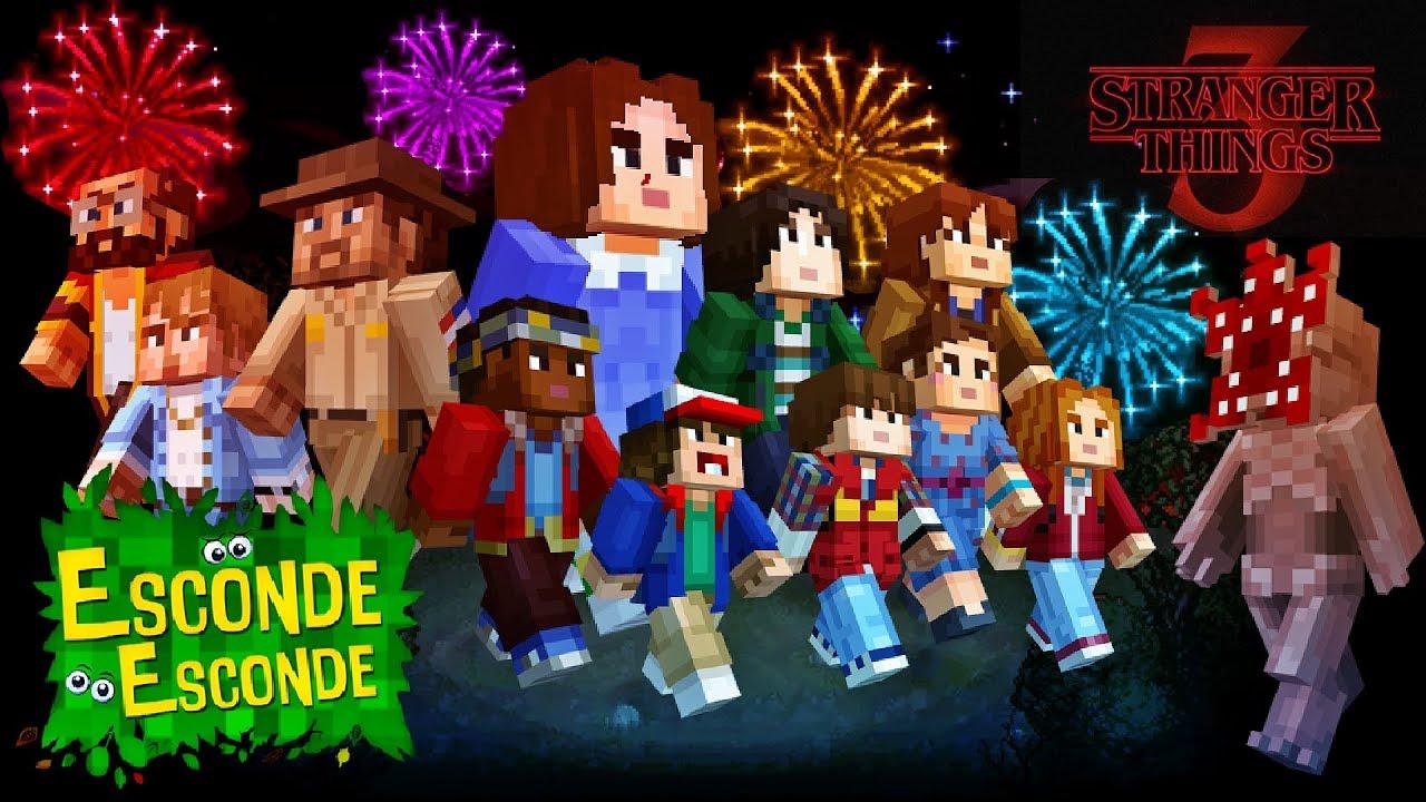 Minecraft: STRANGER THINGS 11 (Esconde-Esconde)