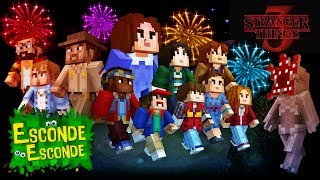 Minecraft: STRANGER THINGS 3 (Esconde-Esconde)