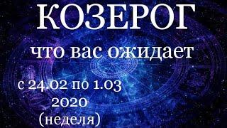 КОЗЕРОГ. Недельный (24.02-1.03. 2020) ТАРО прогноз.