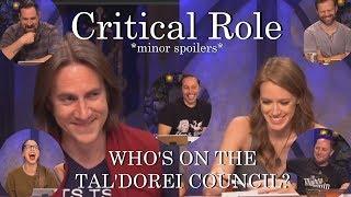 Who's on the Tal'Dorei Council? - Critical Role (C2E85)