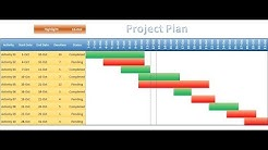 Project Plan(Gantt Chart) in excel