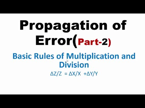 Basic Rules of Multiplication,Division and Exponent of Errors(Part-2), IIT-JEE physics classes