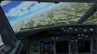 Juana Azurduy Airport (SLSU) in Sucre, Bolivia - Visual Runway 5 Approach