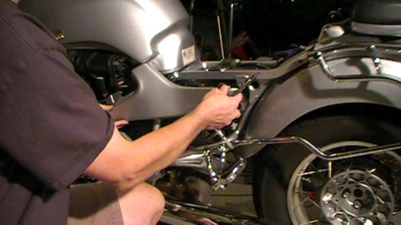 Installing BMW R1200C Gas Tank, Battery Installation Part