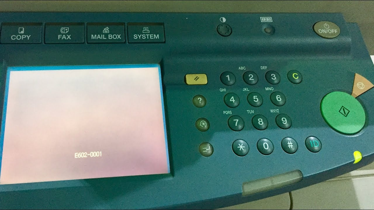 Canon IR3300 showing the error code E602-0001 | Hard Disk problem solutions